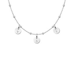 Zilveren ketting met rondjes max. drie initialen