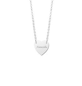 Zilveren naam ketting met hartje