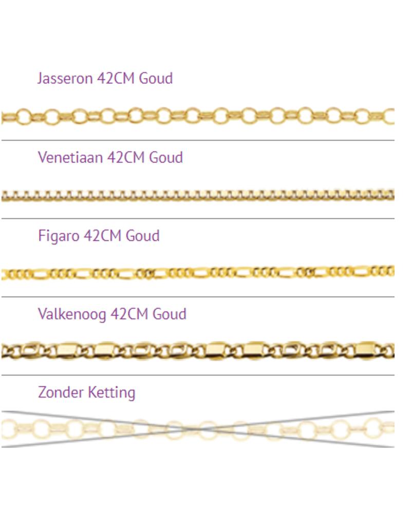 Gouden naamketting model Christel - Stefan
