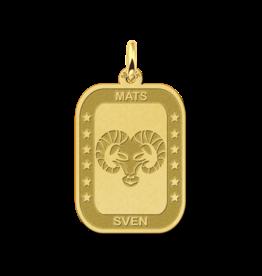 Gouden naam sterrenbeeld rechthoek