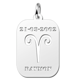 Zilveren naam sterrenbeeld rechthoek