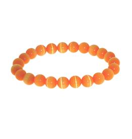 Armband kattenoog oranje