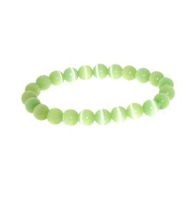 Armband kattenoog licht groen