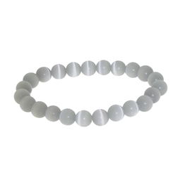 Armband kattenoog licht grijs
