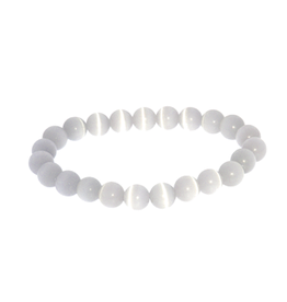 Armband kattenoog wit