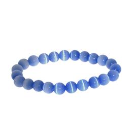 Armband kattenoog blauw
