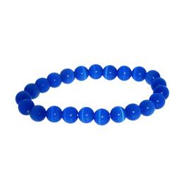 Armband kattenoog konings blauw