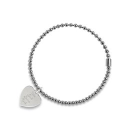 Zilveren rek-armband met bedel