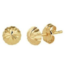 Gouden oorknoppen - 14 karaats - 5.0 mm - Gediamanteerd