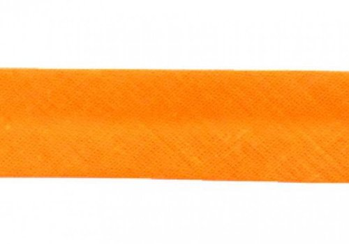 De Stoffenkamer Biaisband licht oranje