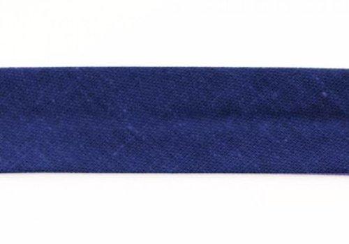 De Stoffenkamer Biaisband kobaltblauw