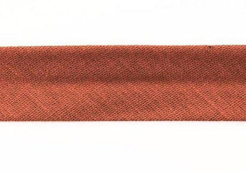 De Stoffenkamer Biaisband roodbruin