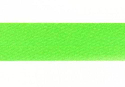 De Stoffenkamer Biaisband fluo groen