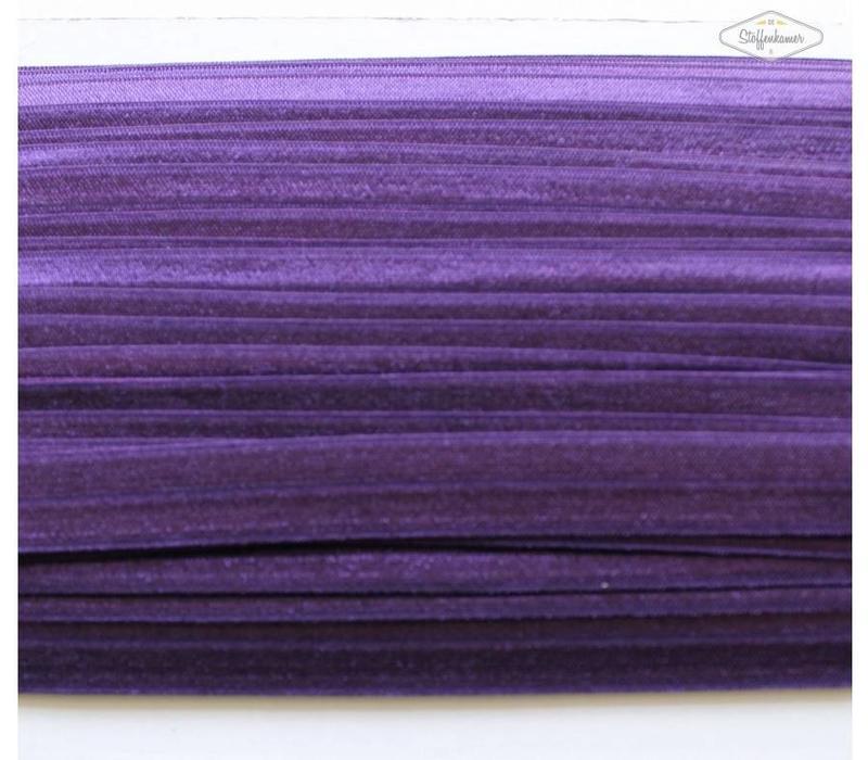 Rekbare biaisband paars
