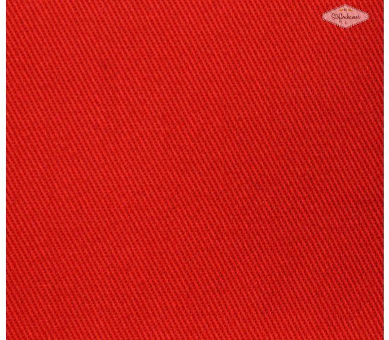 Canvas gabardine rood