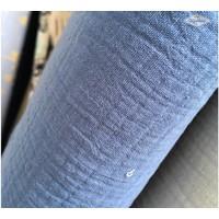 Double Gauze Tetra Midden Blauw