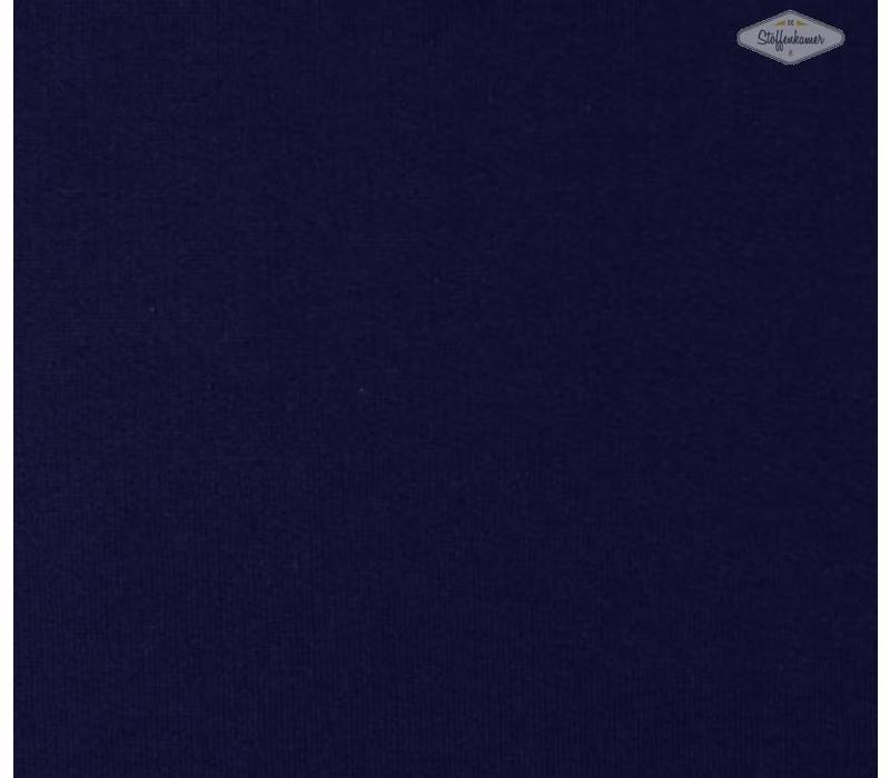 Effen sweaterstof Donkerblauw