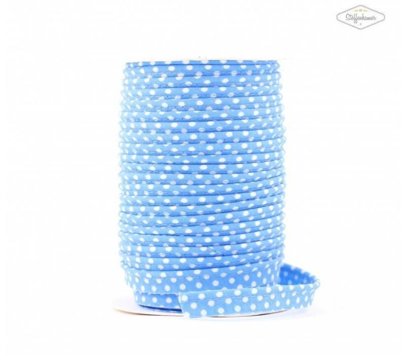 Paspelband lichtturquoise met stipjes