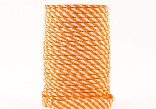De Stoffenkamer Paspelband oranje met streepjes