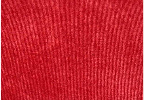 De Stoffenkamer Velours Babyrib Rood