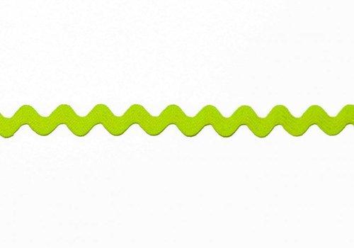 De Stoffenkamer Zigzagband fluo groen
