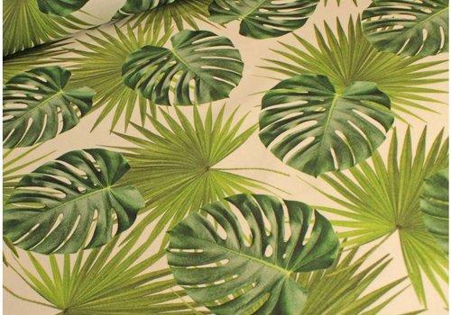 De Stoffenkamer Stevige katoen botanical leaves