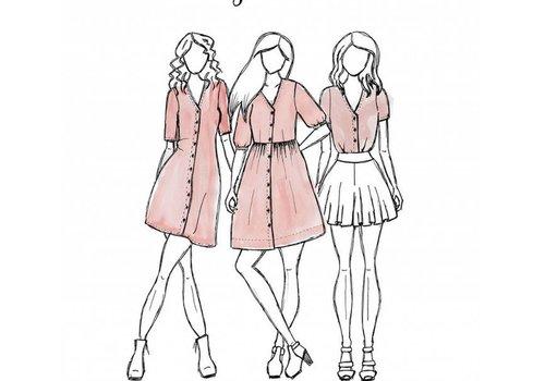 Megan Nielsen Darling Ranges Dress 3IN1