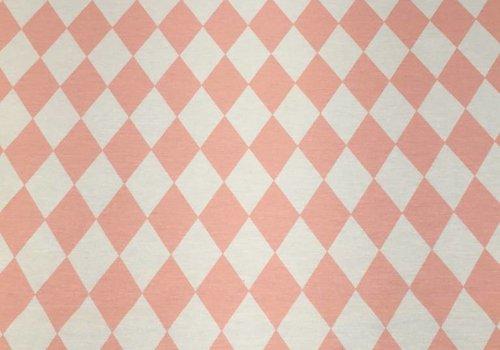 De Stoffenkamer Stevige katoen Harlekijn ruit roze