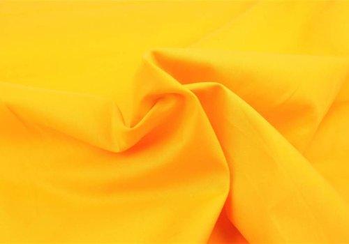 De Stoffenkamer Effen katoen warm geel