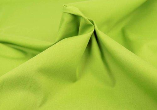 De Stoffenkamer Effen katoen limoen groen
