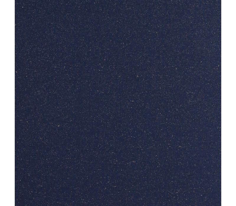 Boordstof Glitter marineblauw goud