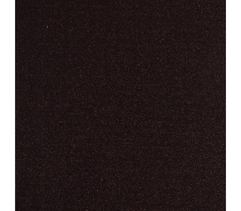Boordstof Glitter Zwart Koper