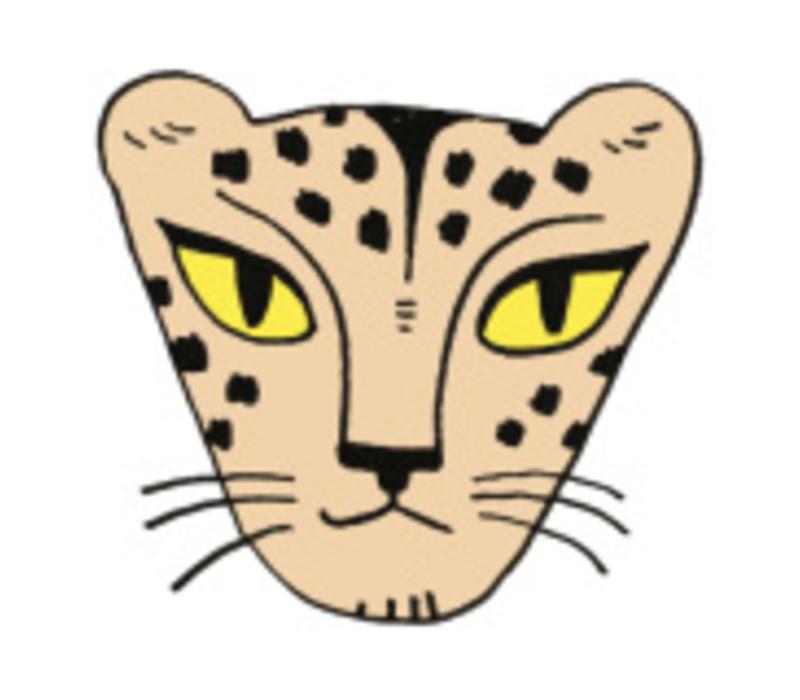 Strijkapplicatie Eva Mouton cheetah