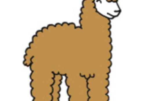 De Stoffenkamer Strijkapplicatie Eva Mouton alpaca