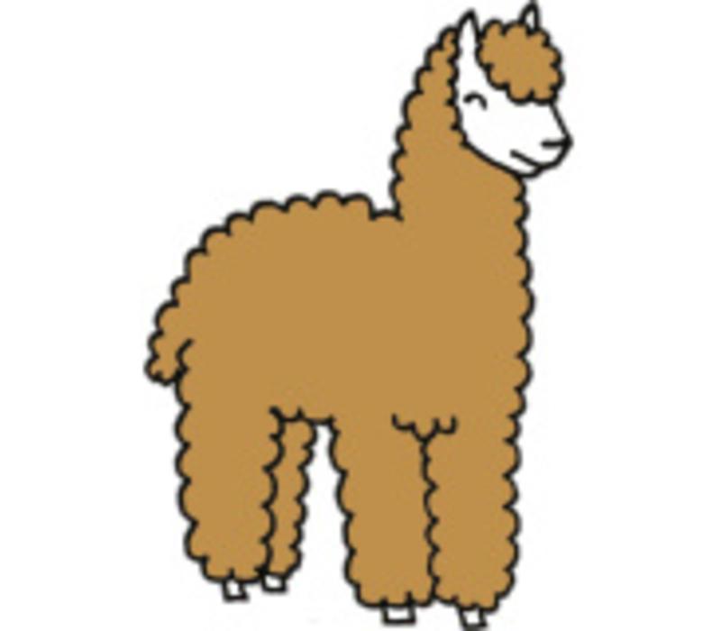 Strijkapplicatie Eva Mouton alpaca