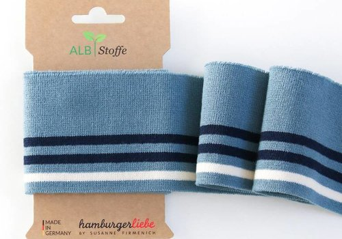 Albstoffe - Hamburgerliebe Cuff Me College Washed blue