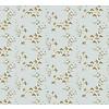 Camelot Cottons mint birds gold metallic