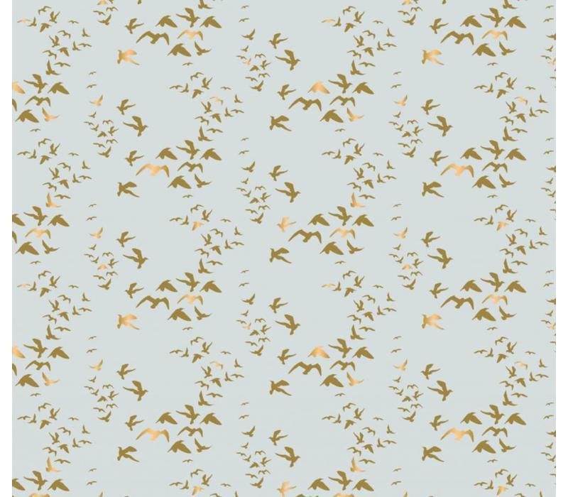 mint birds gold metallic