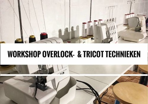 Workshop Overlock- & tricotreeks 5, 12 & 19/9