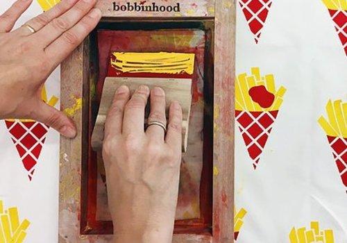 Workshop zeefdrukken bobbinhood 29/9 nm