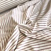 De Stoffenkamer Rekbare badstof - spons stripes rozerood