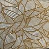 De Stoffenkamer Stevige katoen Oker Leaves