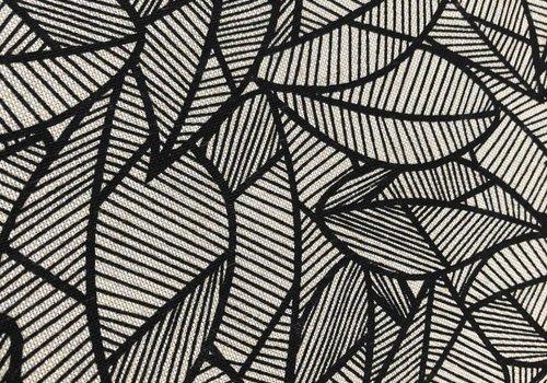 De Stoffenkamer Stevige katoen Black Leaves