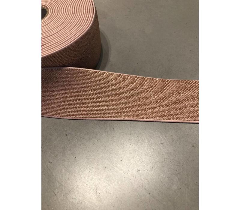 Elastiek ros̩ Goud 5cm