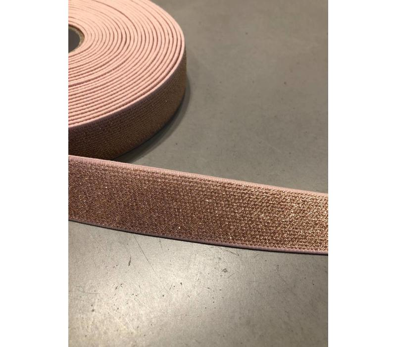 Elastiek rosé Goud 2,5cm
