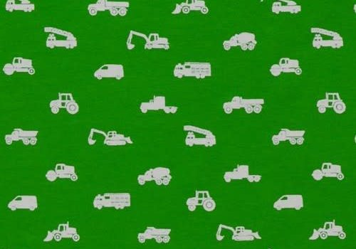 Baba Baby BIO Tricot green cars