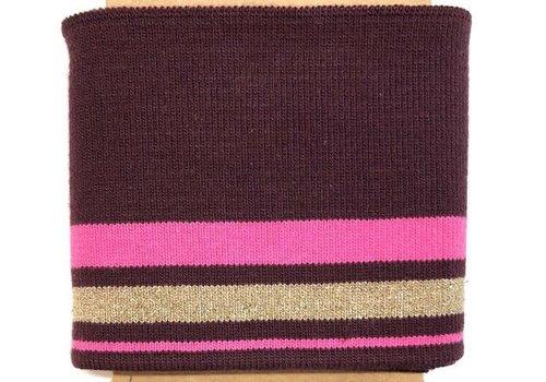 Albstoffe - Hamburgerliebe Cuff Me Glam Wine/pink Gold