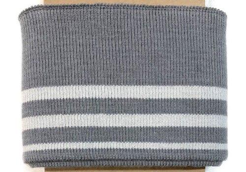 Albstoffe - Hamburgerliebe Cuff Me grey/white