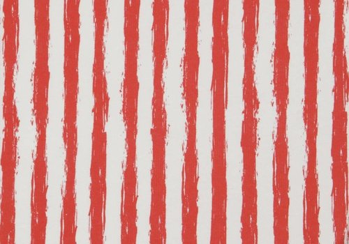 De Stoffenkamer Crooked stripes Red