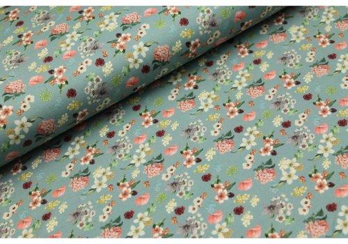 Megan Blue Fabrics Old Green Flowerfield